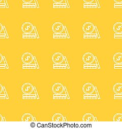 Seamless pattern with coins icons