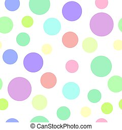 Seamless pattern with color circles
