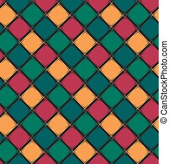 Seamless pattern with color rhombus.