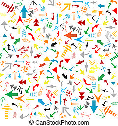 Seamless pattern with colored arrows