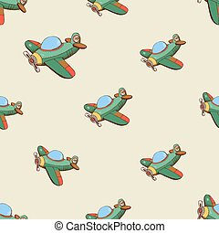 Seamless pattern with colored plane