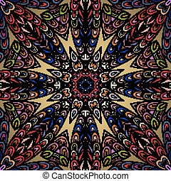 Seamless pattern with colorful circle ornament.