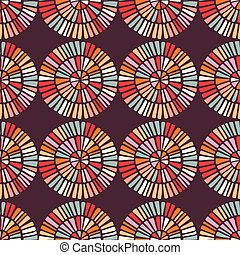 Seamless pattern with colorful circle shapes