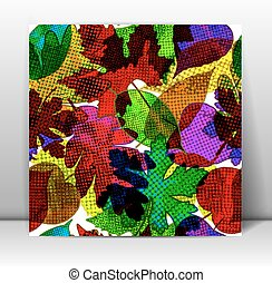 Seamless pattern with colorful leaves. Vector, EPS10.