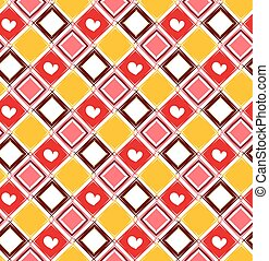 Seamless pattern with colorful rombus.