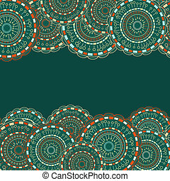 Seamless Pattern with Colorful Round Elements