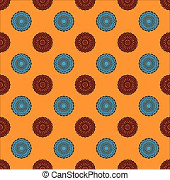 Seamless Pattern with Concentric Circles