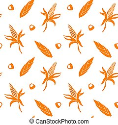 Seamless pattern with corn.
