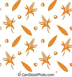 Seamless pattern with corn.