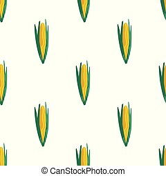 Seamless pattern with corn