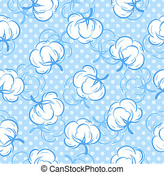 Seamless pattern with cotton buds - Seamless floral pattern ...