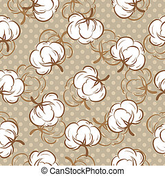 Seamless pattern with cotton buds - Seamless floral pattern...
