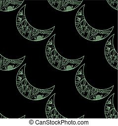 seamless pattern with crescents