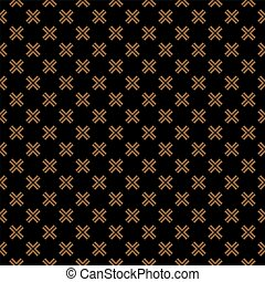 Seamless pattern with cross on black