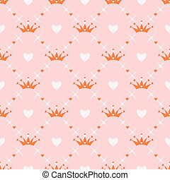 Seamless pattern with crown