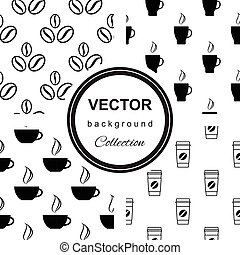 Seamless pattern with cup of coffee