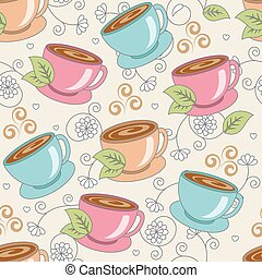 seamless pattern with cups