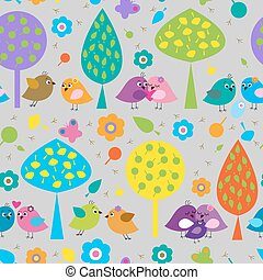 Seamless pattern with cute colorful