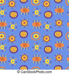 Seamless pattern with cute ethnic p