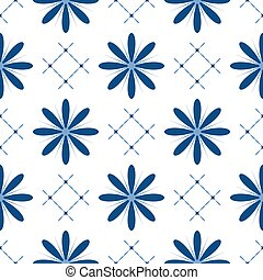 Seamless pattern with cute flowers