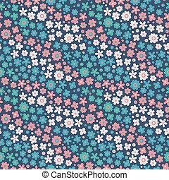 Seamless pattern with cute flowers.