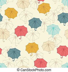 Seamless pattern with cute umbrellas. Vector illustration