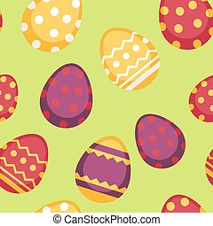 Seamless pattern with decorated eggs isolated. Traditional...