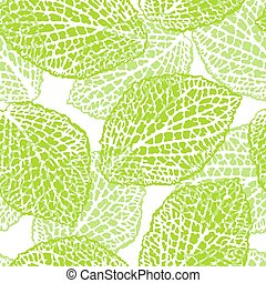 Seamless pattern with decorative leaves. Natural detailed...
