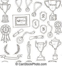 seamless pattern with decorative sketch Award