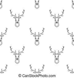 seamless pattern with deer head
