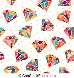Seamless Pattern with Diamonds