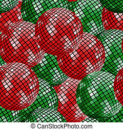 Seamless pattern with disco balls