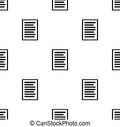 Seamless pattern with document icon on white background. Vector illustration for design, web, wrapping paper, fabric.