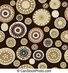 Seamless pattern with doodle flowers
