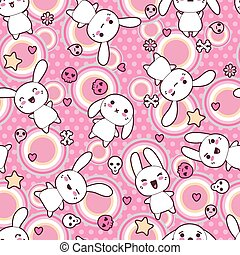 Seamless pattern with doodle. Vector kawaii illustration