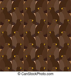Seamless pattern with eagles in Esher style, tessellation.