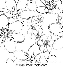 Seamless pattern with early spring flowers liverleaf
