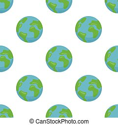 Seamless pattern with Earth planet