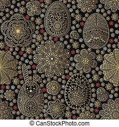 Seamless pattern with Easter eggs a