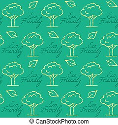 Seamless pattern with Eco Friendly text