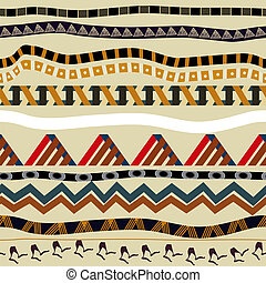 Seamless pattern with elements of ethnic style. Tribal