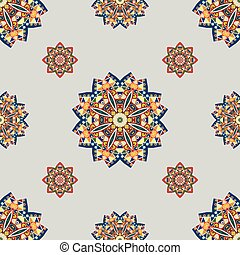 seamless pattern with elements of Mandala style