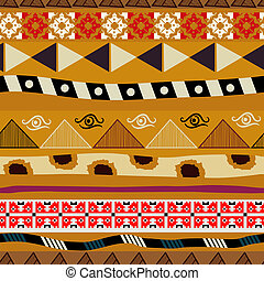 Seamless pattern with elements of tribal embroidery