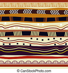 Seamless pattern with elements of tribal style