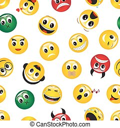 seamless pattern with emoticons