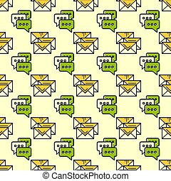 Seamless pattern with envelopes