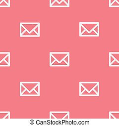 Seamless pattern with envelopes.