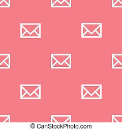 Seamless pattern with envelopes. Vector illustration. Soft colors.
