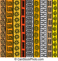 Seamless pattern with ethnic African motifs