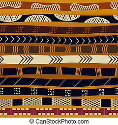 Seamless pattern with ethnic motifs.